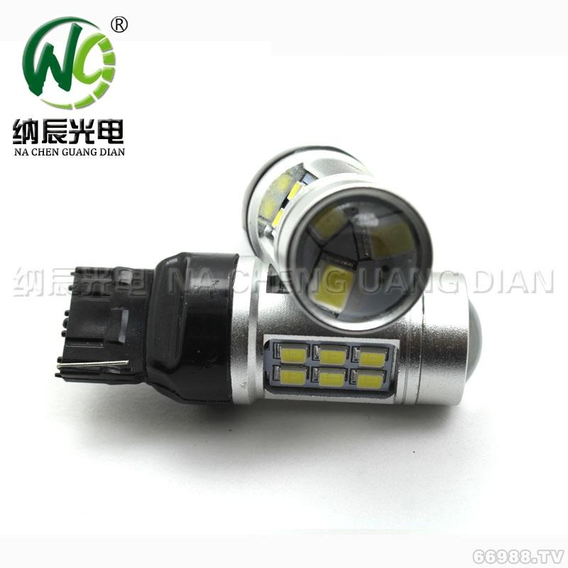 纳辰光电新款T20大功率2835-21灯超亮汽车LED流氓倒车灯