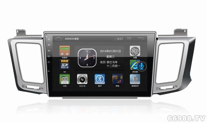 皇者汽车爱视唯2014/2015款新RAV4导航安卓10.1寸大屏导航