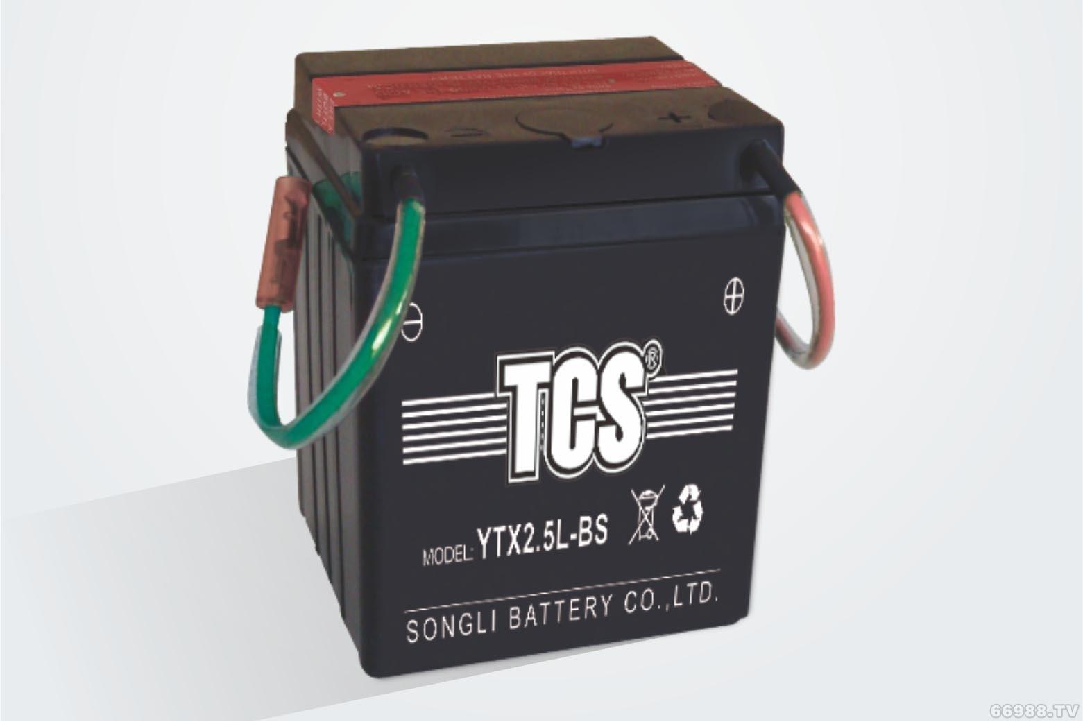 松立干荷免维护水电池TCS YTX2.5L-BS