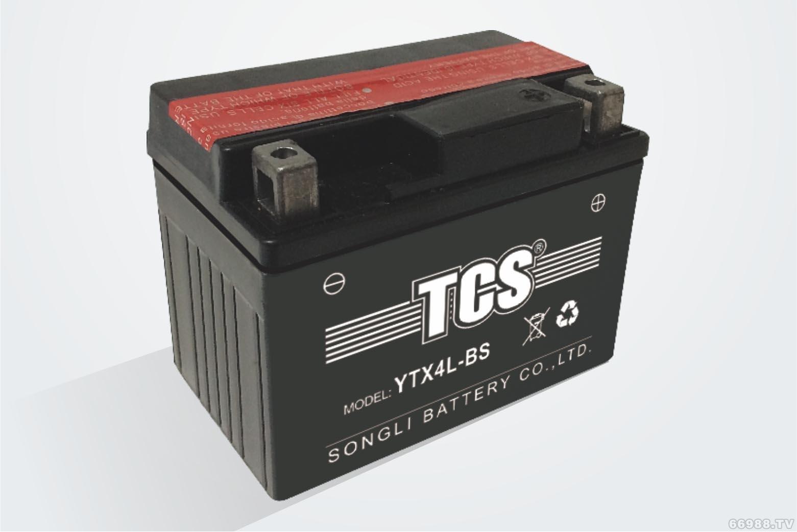 松立干荷免维护水电池TCS YTX4L-BS