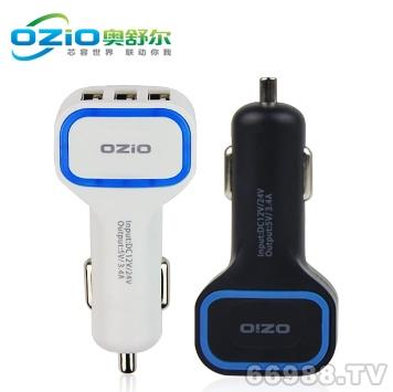 E-CP34/1000/1000/2400MA车用手机充电器/三USB车载充电器