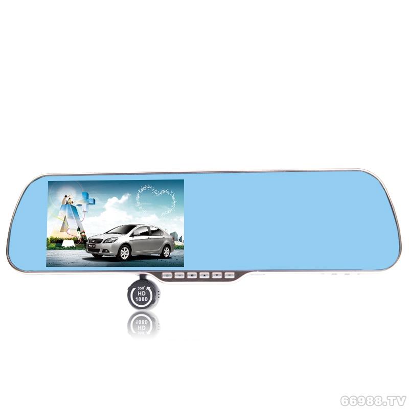 V2 5.0寸大屏多功能高清行车记录仪一体机