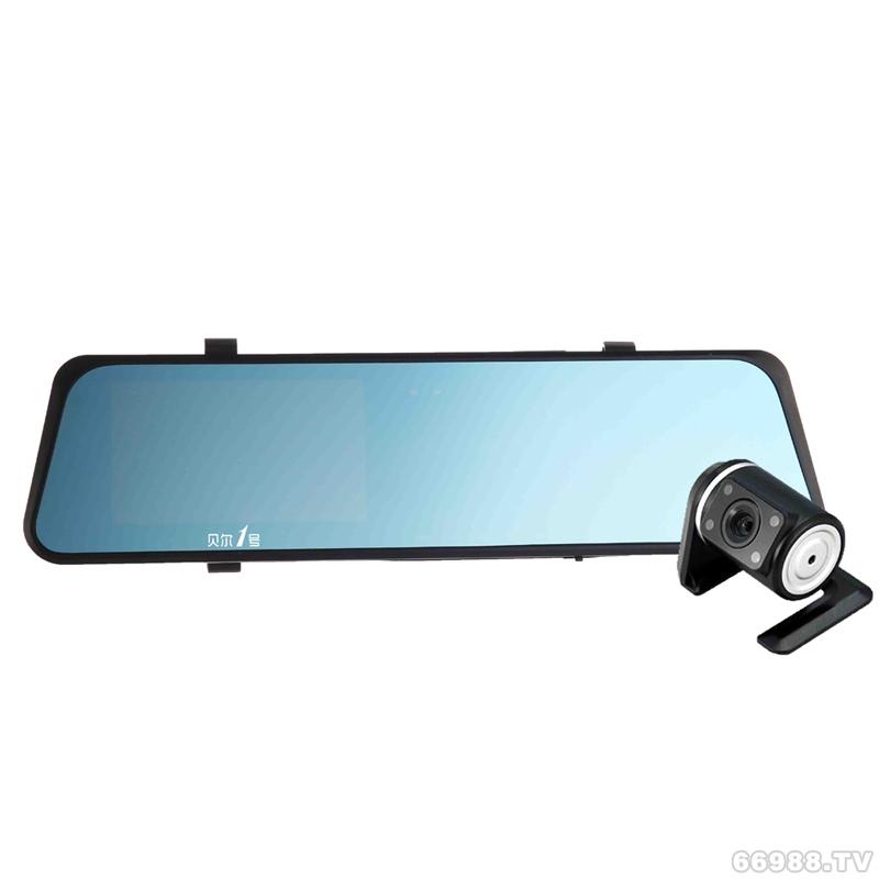 I90 蓝屏高清后视镜双镜头行车记录仪