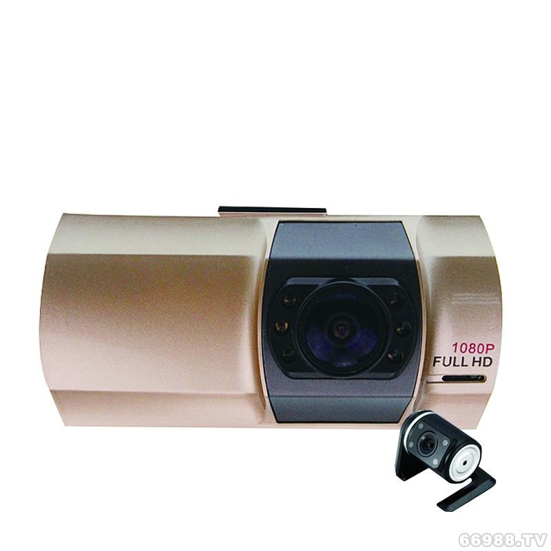 i28 2.7寸TFT宽屏双镜头前后录影行车记录仪