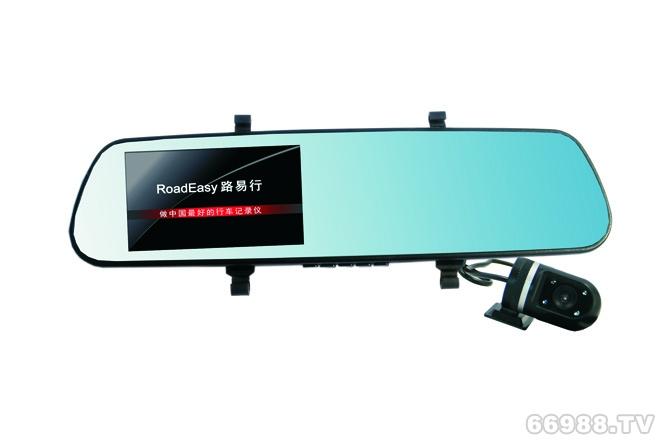 高清双镜头后视镜记录仪R08A