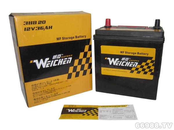 晶丰威臣蓄电池55B24R(12V45AH)