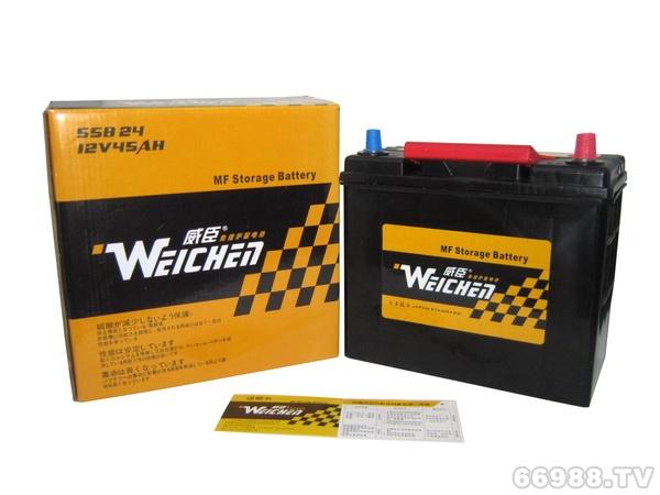 晶丰威臣蓄电池55B24L(12V45AH)