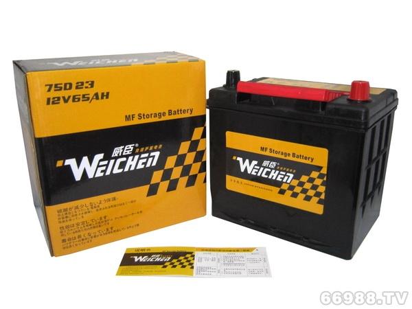 晶丰威臣蓄电池75D23L(12V65AH)