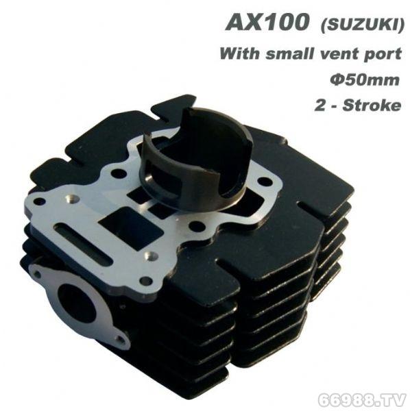 经久摩托车汽缸体 铃木AX100 (小气口)