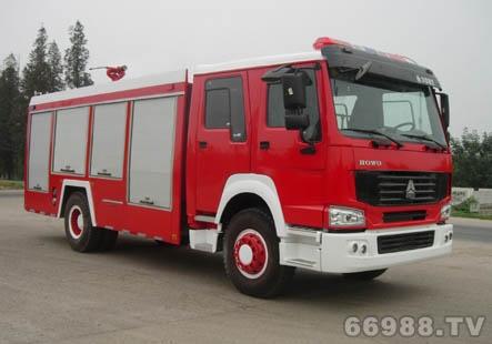 豪沃单桥型水罐泡沫消防车