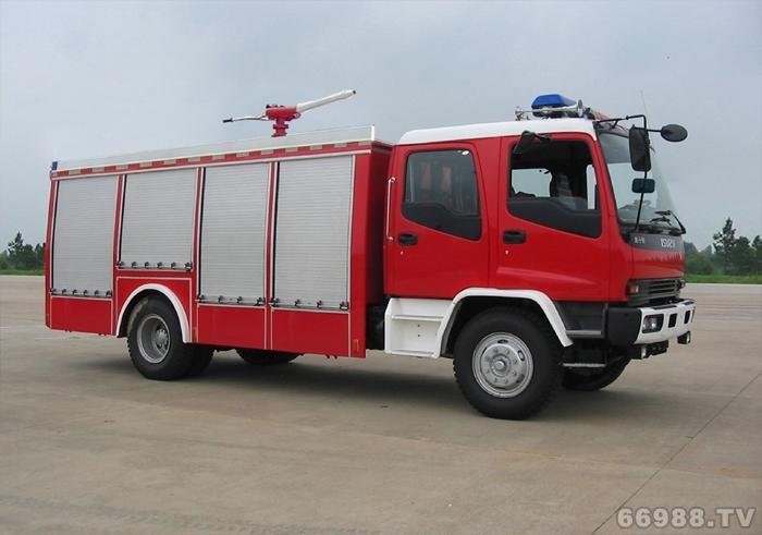 五十铃单桥水罐泡沫型消防车
