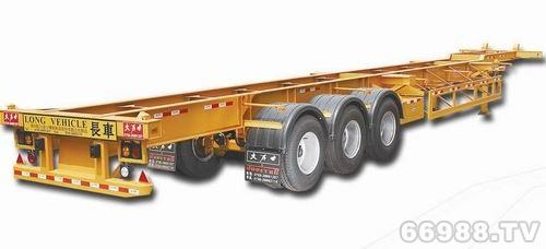 泰华大力士三轴驼背式半挂车