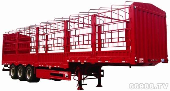 泰华大力士三轴鹅颈式仓栅车