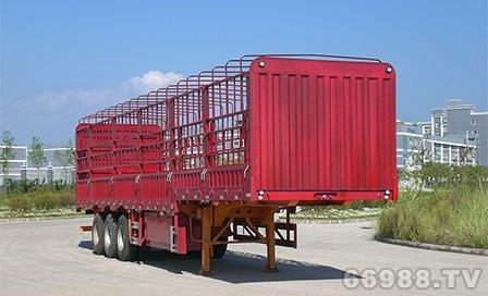 南明LSY9404C型高低板仓栅式半挂车