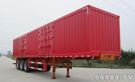 南明LSY9402XXY型三轴厢式运输半挂车