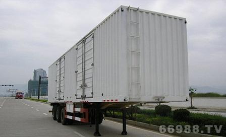 南明LSY9382XXY型三轴厢式半挂车