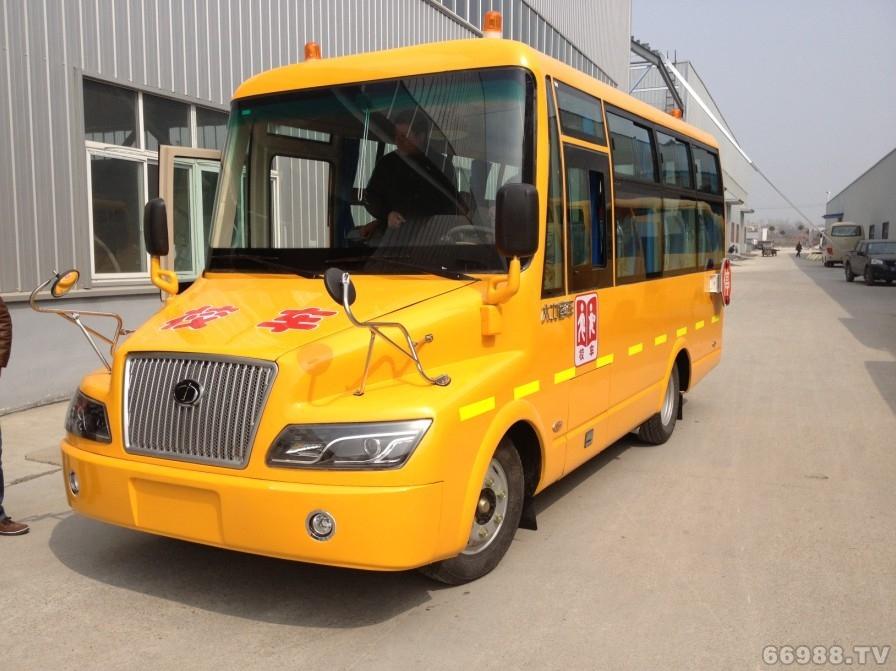 楚欣大力牌DLQ6601HX4型幼儿专用校车