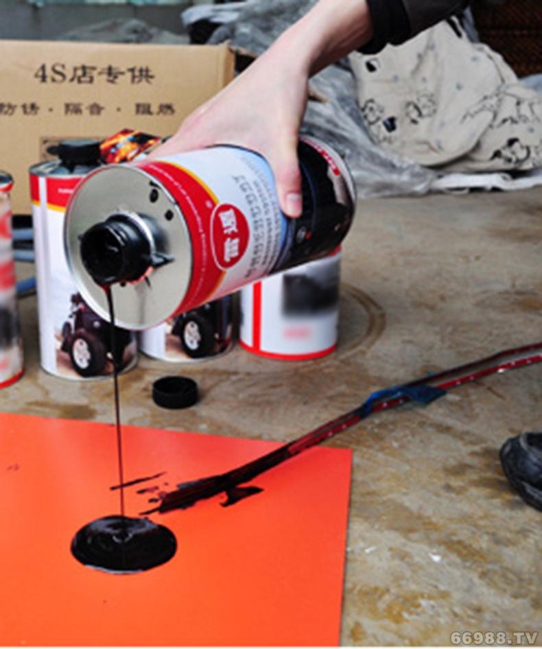 雷遁汽车底盘装甲AC橡胶快干地盘漆防锈防腐蚀减震不自喷型 2kg
